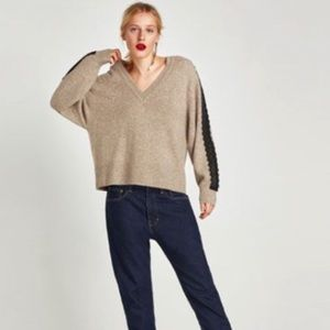Zara Sweaters - Zara sweater with contrasting lace NEw large